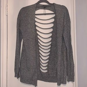 cardigan with cuts in the back